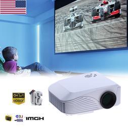 Portable HD 1080P 7000 Lumens 3D Multimedia Projector LED Ho