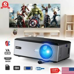 Portable HD 1080P Projector LED LCD Home Theater HDMI USB 50