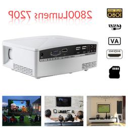 """Portable LED Full HD 1080p 4.0"""" LCD Home Theater Projector N"""