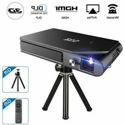 HD Portable Mini Mirascreen DLP Projector Wifi 3D Home Theat