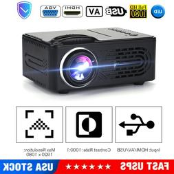 Portable Mini LED Projector HD Home Theater Movie 3D Multime