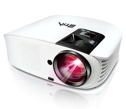 """Portable Movie Projector, 200"""" LED Video Projector 1080p + F"""