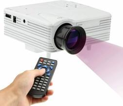 Portable Multimedia LED Projector 1080P Mini Home Cinema USB