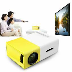 Portable Pocket LED LCD Projector 1080P USB AV TF HD 3D Mult