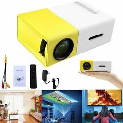 Portable Pocket LED LCD Projector 1080P USB AV TF HD 3D Mult