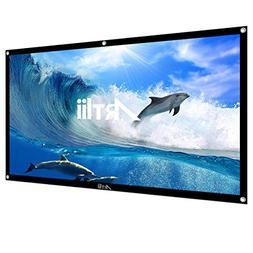 Artlii 100 Inch Portable Projector Screen 16:9 High Contrast