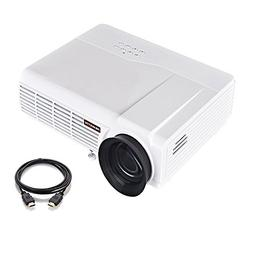 Portable Projector, PRAVETTE Home Theater Mini Projector Sup