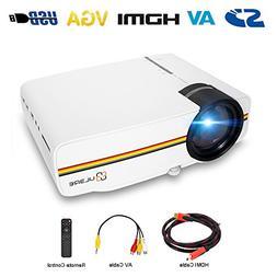 Portable Projector, ULBRE MultiMedia Home Cinema 1080P 1200