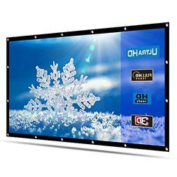 Projector Screen HENZIN 120 inch 16:9 HD Portable Anti-Creas