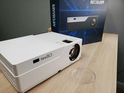 Projector, CiBest 1080p LED Video Projector 5000 Lux, 300 In