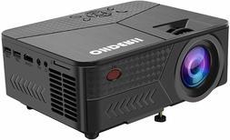 "OHDERII Projector, 1080p, Up to 120"" Display, HDMI, VGA, USB"