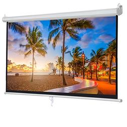 "ZENY 100"" Projector Screen 16:9 HD Projection Manual Pull Do"