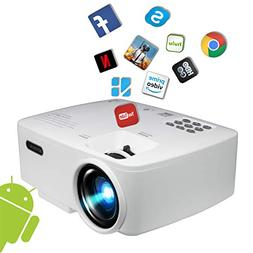Projector, Smart Android WiFi Bluetooth Video Beam, by BeVis