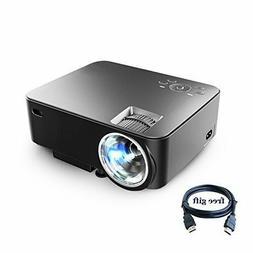"Projector XINDA 2000 Lumens Video Projector with 170"" Displa"