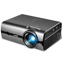 "Projector, CiBest Video Projector with 2500 Lux 170"" Display"