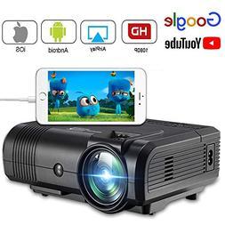 2200 Lumens Movie Projector, Weton 1080P HD Video Projector