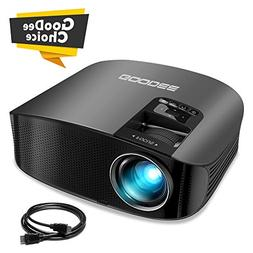 Projector, GooDee Video Projector Outdoor Movie Projector, 2