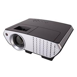Video Projector,XINDA 2018 Updated 2000 Lumens LCD LED Multi