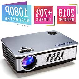 "Crenova Full HD Movie Projector, Video Projector with 200"" P"