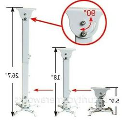 Projector Ceiling Mount Bracket Extendable Tilt Swivel DLP L