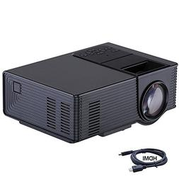 Video Projector, Dinlly Portable LED Projector 1500 Lumens 1