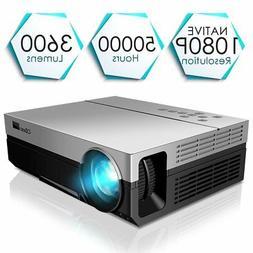 Projector, CiBest Full HD Native 1080P Video Projector 3600