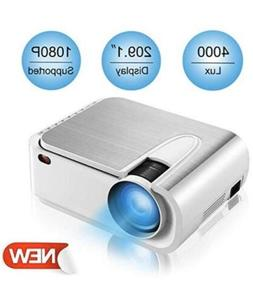 XINDA Projector, HD 4000 Lux Video Projector with 210 Displa