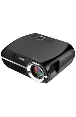 Ohderii Projector, LED Projector 3200ANSI Luminous efficienc