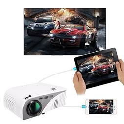 Video Projector,XINDA Wired Mirror Screen for iPhone Project