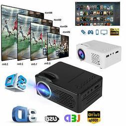Projector Mini HD 1080P Portable Theater Cinema HDMI AV USB