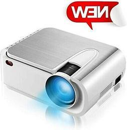 "Projector, XINDA Mini Projector with 4600 Lumen,220"" Display"