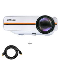 Projector, Deeplee Mini Video projector Laptop 1500 Lumens L
