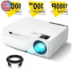 Projector, CiBest Native 1080p LED Video Projector 5000 Lux,