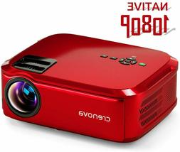 Crenova Projector Native 1080p LED Video Projector, 5500 Lux