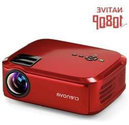 Crenova Projector Native 1080P LED Video Projector 6000Lux H