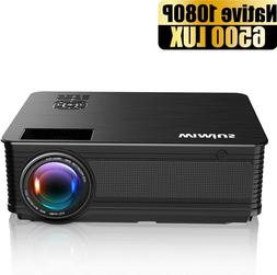 Projector Native Full HD 1080P Support 4K 6000 Lumens Home T