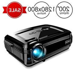 Projector, CiBest BL58 LED Video Projector +80% Luminous Flu