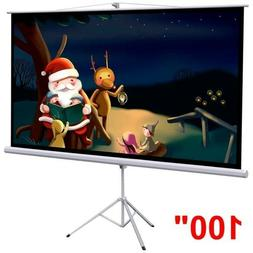 """Projector Screen With Stand 100"""" HD 4K 3D Adjustable Movie L"""
