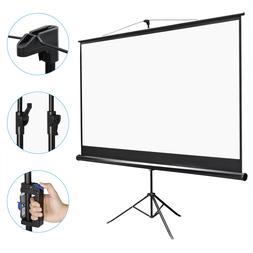 Projector Screen with Stand 100 inch Portable Projection Scr