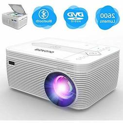 Projector Slide Projectors With DVD Player, Portable Bluetoo