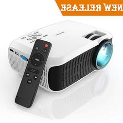 Movie Projector, DBPOWER 2019 Newest 120 ANSI LCD Video Proj