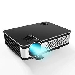 """1080P Projector.Updated 5.5"""" HD Video Projector with 210"""" Di"""