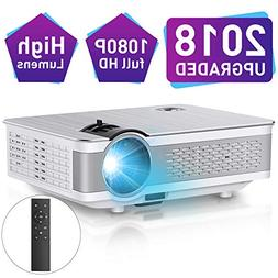 "1080P Projector,Xinda 5.5 inch HD Projector with 200""Display"