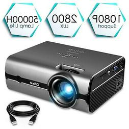 """Projector, CiBest Video Projector with 2800 Lux 170"""" Display"""