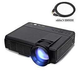 Projector,XINDA 2200 Lux LED Portable Projector with Carryin