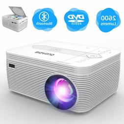 BIGASUO Projector with DVD Player, 2600 Lumens Bluetooth 108