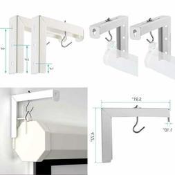 "Universal Projector Screen L-Bracket Wall Hanging Mount 6"""