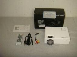 DBPOWER RD-810 LED MINI PORTABLE PROJECTOR WHITE