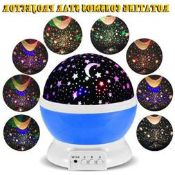 Romantic LED Starry Night Sky Moon Galaxy Projector Lamp Sta