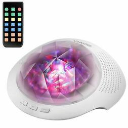 SOAIY Sleep Sound Machine  Aurora Projector Night Light for